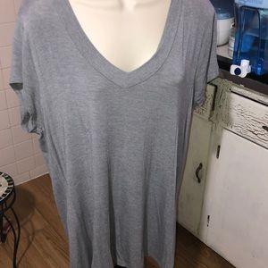 🆕EUC Merona Super Soft Stretch Gray V-neck XL